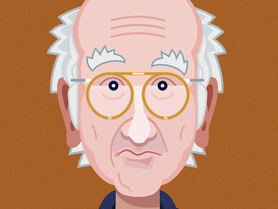 Larry David larry david xk9 graphic design illustration portrait comedy