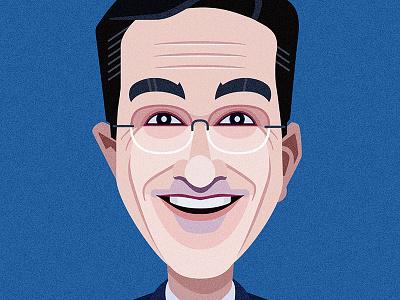 Stephen Colbert astute graphics vector adobe illustrator portrait comics of comedy illustration stephen colbert
