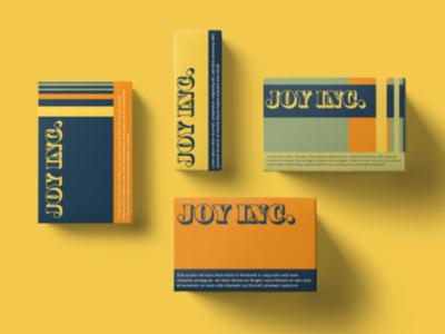 JOY INC. Packaging Design
