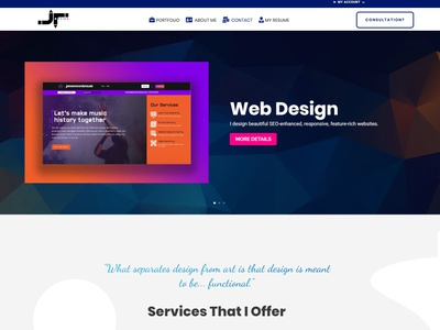 My Personal Site's Homepage javascript css html wordpress uidesign graphics design web design