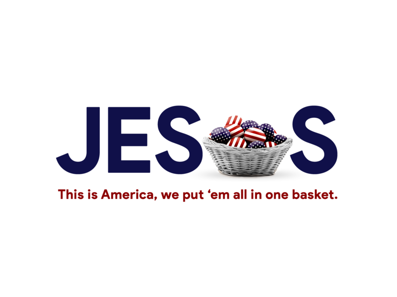 In America, we put 'em all in one basket 👉 Thank you Jesus stars and stripes nation flag usa flag united states of america united states merica murica america usa christian jesus christ happy easter egg egg hunt egg eggs easter eggs jesus easter
