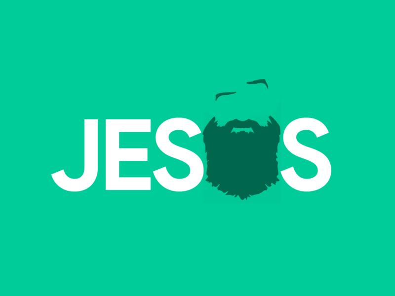 🧔 Jesus Beard Typography with Raised Eyebrow 🤨 bearded beards letters letter words word typography poster typography design typography logo typographic typograhy typography art christian jesus christ brow eye raised typography beard jesus