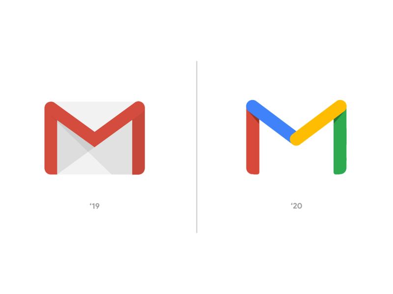 Gmail Logo Update New 2020 Transparent Google Rebrand Concept vector flat new mock up mock-up mockup concept brand identity branding design brand design branding brand rebranding rebrand logo app icon email google gmail