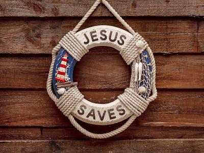 ✝ Jesus Life Saver 🚤⛵🚢🤞 jesus christ support help life lake ocean sailboat sail rope sea ship sailor anchor buoy life saver live jesus saves saves jesus