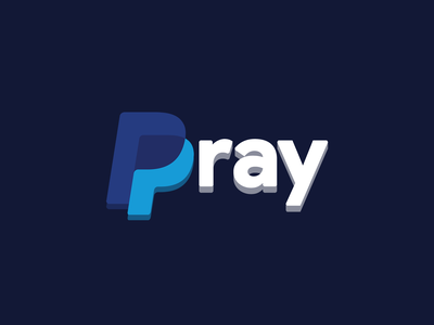PrayPal 💳 Paypal Rebound Rebrand 2021 bitcoin g pay apple pay gpay pay illustration 3d 2d concept branding concept rebranding rebrand logo pray pal prayers praying pray prayer paypal praypal