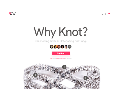 Product Page UX Design product ecommerce minimal modern clean mac apple page layout mockup hero above the fold atf logo jewelry diamonds diamond pink template ladning page buy now