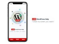 Live WordPress Help iPhone X View