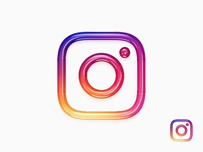New Instagram 3D Logo / App Icon trending trends trendy 2018 2019 icons social media social likes comments followers hashtag ig instagram app icon icon 2d 3d logo