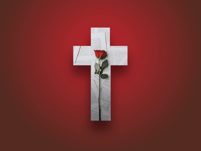 He Died Rose Again white green red transparent gradient news holy sunday crucifixion crucifix rose risen bible study faith easter church cross christian bible verse bible