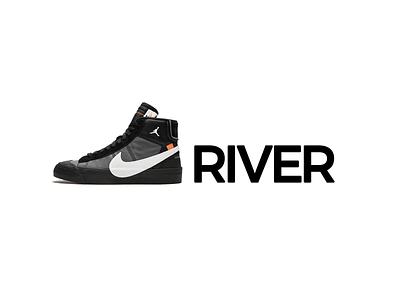 The Jordan River - Just Cross It typography art typography lettering word art michael jordan air jordan nike air nike shoe shoes promised land bible old testament israel joshua cross jordan river