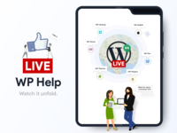 Live WP Help - New Samsung Fold Unfold Smart Phone Mockup