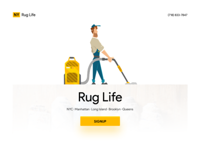 🧽 Rug Life Call to Action Screen