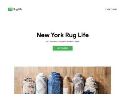🧶 Rug Life Hero Mockup for Landing Page Design