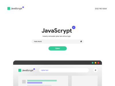 JavaScrypt ✍ Cipher Text Landing Page Hero