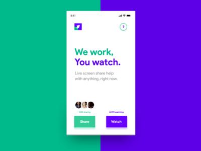 Live Screen Share Help SmartPhone ATF RWD Mockup