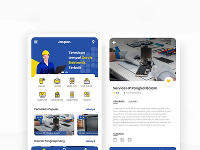 Jaspen | Service Electronic Online mobile design mobile app app ui uiux