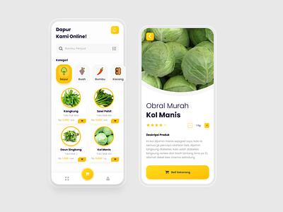 Belanja Sayur - Vegetables Shop Online typography ux design ui uiux mobile app mobile design app