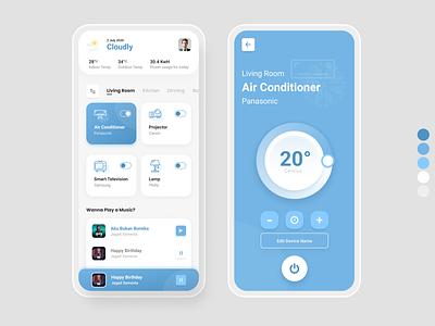 IOT - Smart House flat typography minimal design mobile design mobile app uiux ux ui app