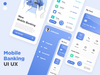 Mobile Banking Modern - User Interface landing page mobile design mobile app ux design uiux ui
