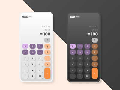 Calculator UI Design design app ux mobile app uiux ui