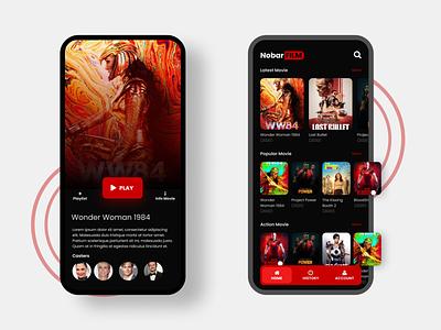 Movie App Steaming - UI Design netflix movie app mobile design app ux mobile app design uiux ui