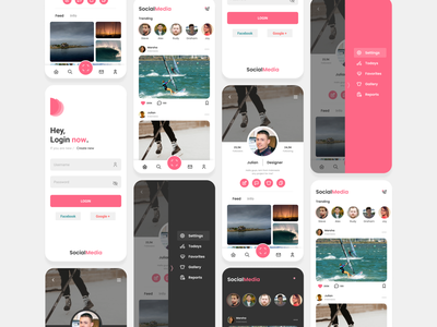 Social Media Photo UI mobile app mobile design ux design uiux ui