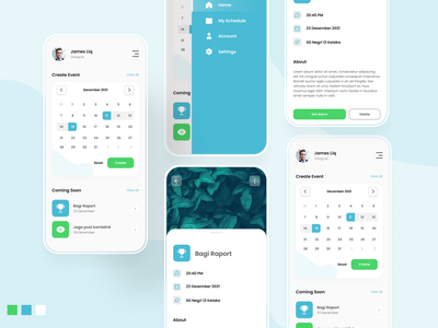 Schedule With Calender Interface schedule calender app mobile design ux mobile app design uiux ui