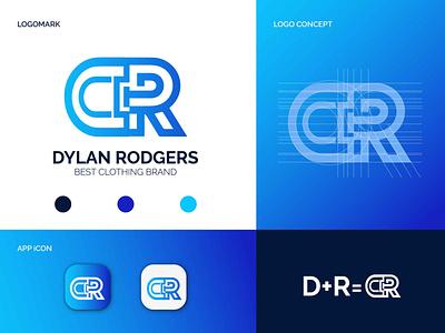 Dylan Rodgers logo design brand identity clothing logo fashion logo business logo text logo apps icon brand logo monogram logo minimalist logo letter logos company logo