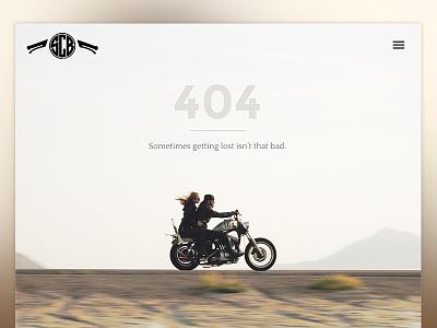 404 Get Lost 404 motorcycle ipad retina salt city builds 404 page