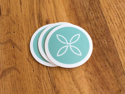 Stickers! logo branding stickers green sticker skinny