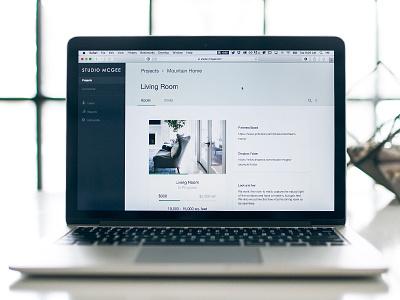 Room View interior design material tabs material design tabs sidebar ui web app material