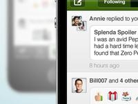 iPhone app feed