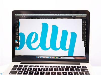 Logo Refinements belly identity type script logo branding