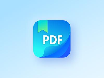 PDF app icon ios app vector document reader mobile design color app icon icon app logo pdf app icons icon ux app ui