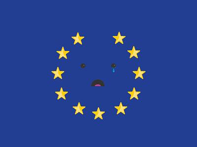Brexit flag sad illustration vector england britain uk eu brexit
