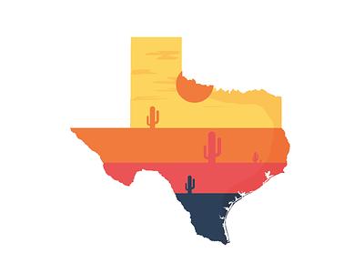 Texas  vector color texas