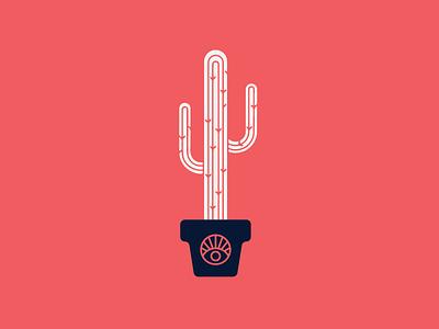 Cacti Lyfe occult eye blue pink texas cactus