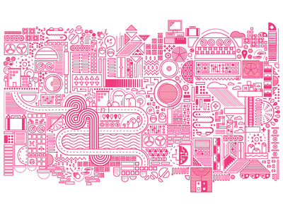 IBM x AIGA National Conference Installation installation illustration pattern pink vector aiga texas ibm atx