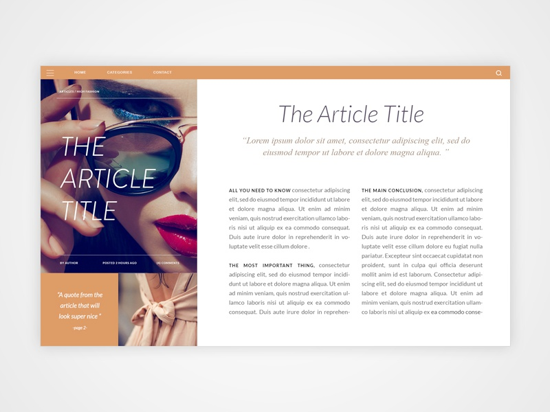 web article layout by cecce dribbble