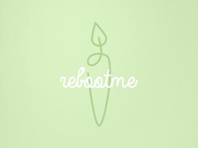 Reboot me logo app green fruit juicing