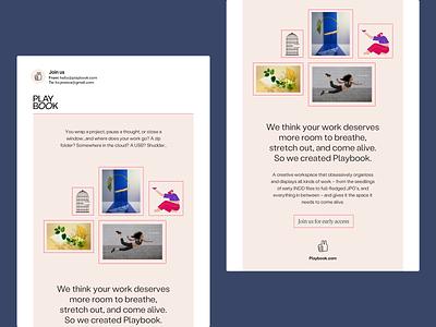 Playbook Newsletter ui logo illustration visual design