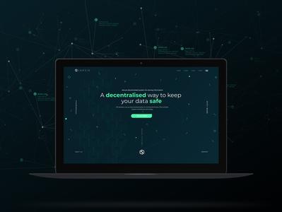 Web Design - Blockchain Company - Dark Version