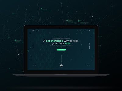 Web Design - Blockchain Company - Dark Version ux website web design