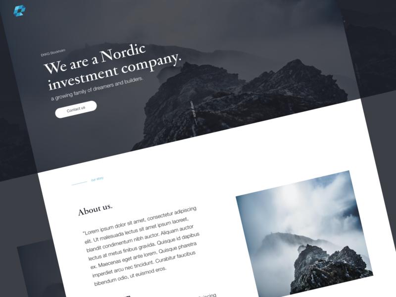 Web Design - Investment Company minimal icon web branding illustration logo website design