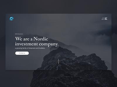 Web Design - Investment Company minimal ux ui web logo website design