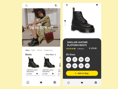 E-Commerce Shop mobile app design mobile ui mobile app e-commerce branding ux ui app