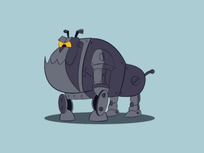 Robodog illustrator dog robot cartoon
