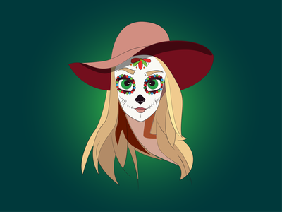 Day of the dead girl illustrator hat girl day of the dead