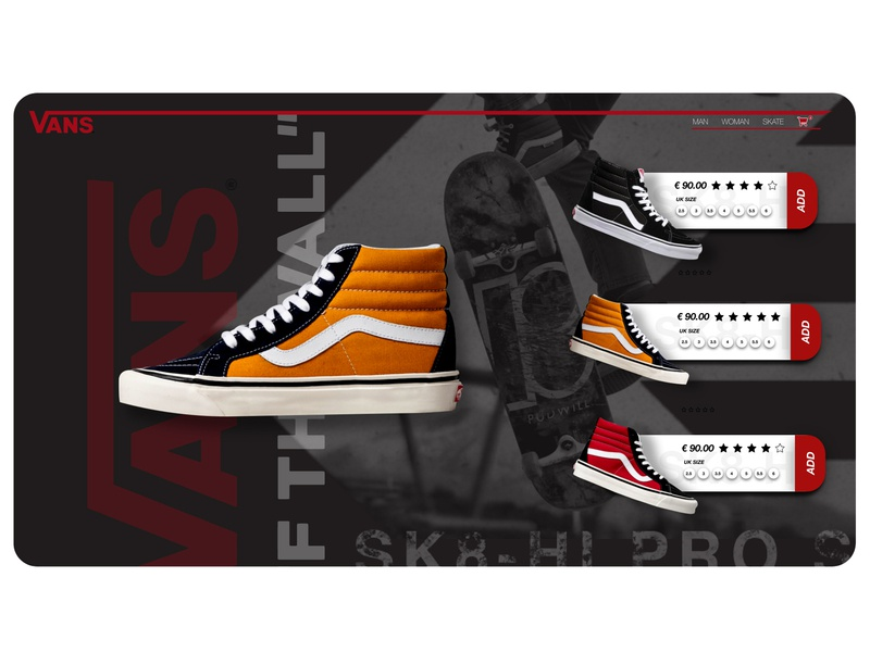 VANS ''OFF THE WALL''   Redesign graphics adobeillustator adobe ui design adobecc adobephotoshop adobexd web website shoes app shop app graphicdesign uxdesigns uxdesigner uiux ui shoes vans