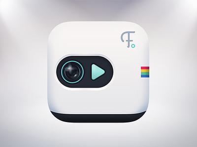Icon design icon instagram white